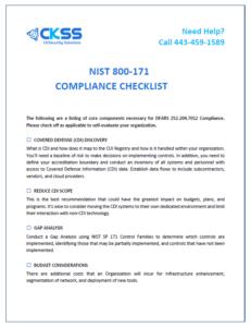 NIST 800-171 Compliance Checklist